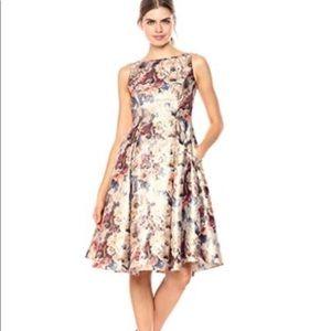 Adriana Papell | Metallic Floral Part Dress